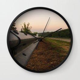 Life Down a Guard Rail Wall Clock