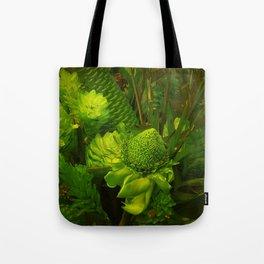 Green Hawaiian Succulents Tote Bag