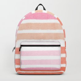 Camil - ombre gradient brushstrokes abstract painting minimalist seaside coastal beach cottage decor Backpack
