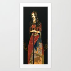 Golden Embers Art Print