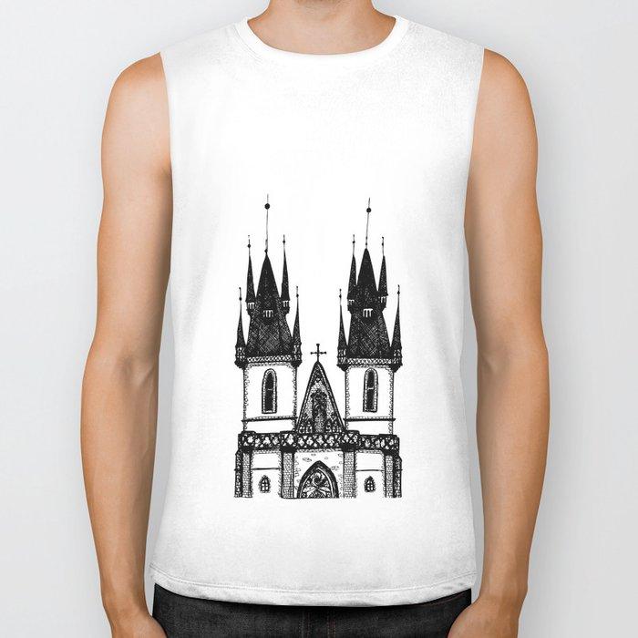 Tyn Church - Prague Biker Tank
