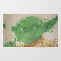 yoda Area & Throw Rugs featuring Yoda by lindenhellart