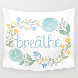 Breathe Flower Art Wall Tapestry