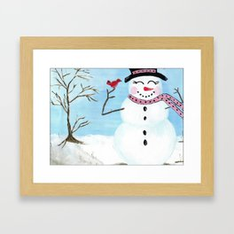 Snowgirl - Image from Original Acrylic Painting by Erin DuFrane Art Framed Art Print