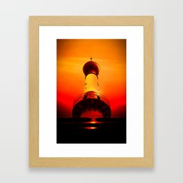 Lighthouse romance Framed Art Print