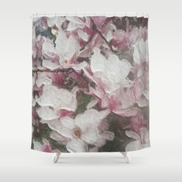 Magnolia Blooms in the Rain Shower Curtain