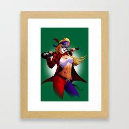 Chola Harley Quinn Framed Art Print