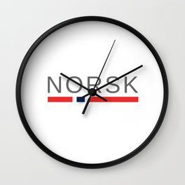 Norsk Norway Wall Clock