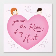 Rose of my heart Canvas Print