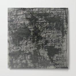 writings Metal Print