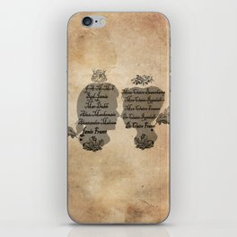 All the names of the Frasers iPhone Skin
