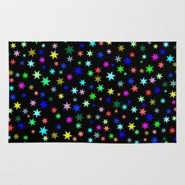 Stars on black ground Rug