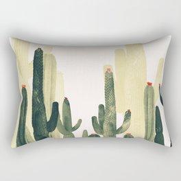 cactus natural vertical Rectangular Pillow