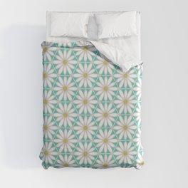 Daisy Hex - Turquoise Duvet Cover