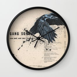 His Master's Voice - The Raven Wall Clock