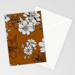 Orange lisianthus Stationery Cards