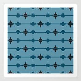 Capsules in Blue on Blue Art Print