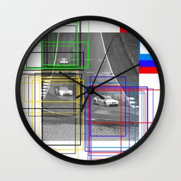 The Racing Line Wall Clock