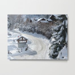 Alpine village Metal Print