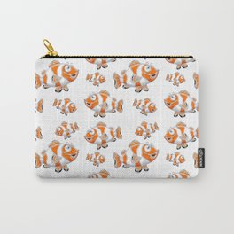Happy Orange Fish Carry-All Pouch