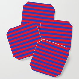 Blue and Red Stripes Coaster