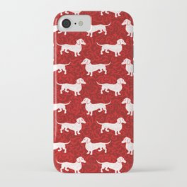 Merry Christmas Dachshunds iPhone Case