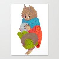 werewolf Canvas Prints featuring Werewolf by Chicherova Olga