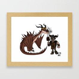 Hungry Hookfang Framed Art Print