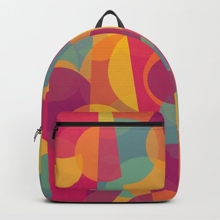 Abstract Circle Pattern - Colorful Dream Backpack