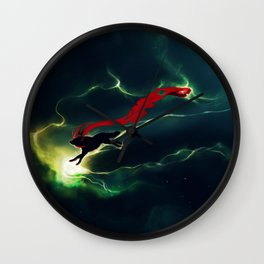WOLF - Breaking Red Wall Clock