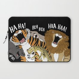 Big Cats Laughing Laptop Sleeve
