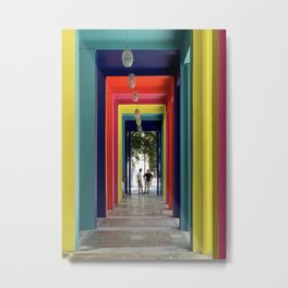 Through the color tunnel Metal Print
