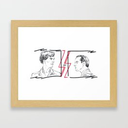 Divided (Sherlock and Jim) Framed Art Print