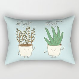 garden etiquette Rectangular Pillow