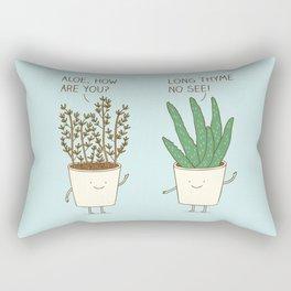 garden etiquette Rectangular Pillow