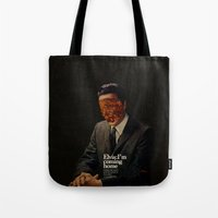 king Tote Bags featuring King by Frank Moth