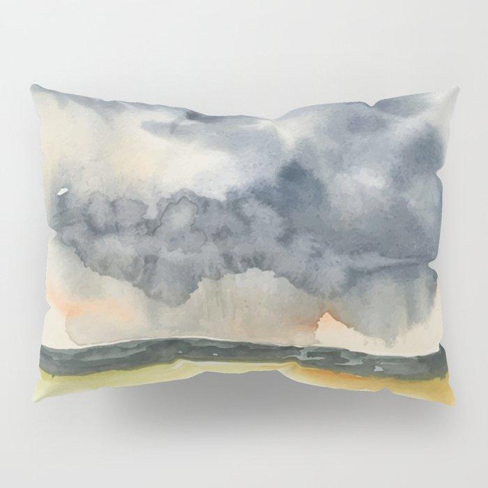 Deluge Watercolor Painting by Jeani Eismont Pillow Sham