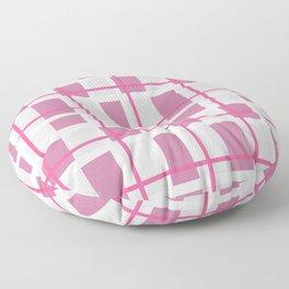 Retro Pink Plaid Pattern Floor Pillow