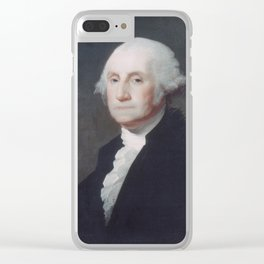 George Washington by Gilbert Stuart Clear iPhone Case