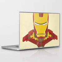 iron man Laptop & iPad Skins featuring IRON MAN by LindseyCowley