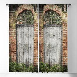 Old doorway Blackout Curtain