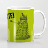 dalek Mugs featuring Dalek by Digital Arts & Crafts by eXistenZ