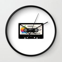 Apple and Lemonade black Wall Clock