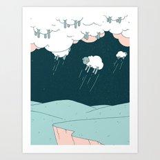 Where Do Good Sheep Go... Art Print