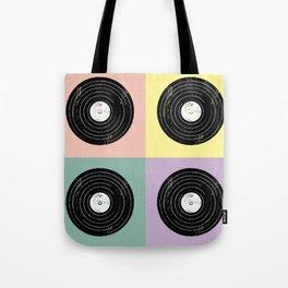 For the Record // Retro Pop Art Design Tote Bag