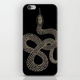 Vintage line snake iPhone Skin