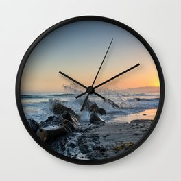 Santa Barbara Coastline Wall Clock