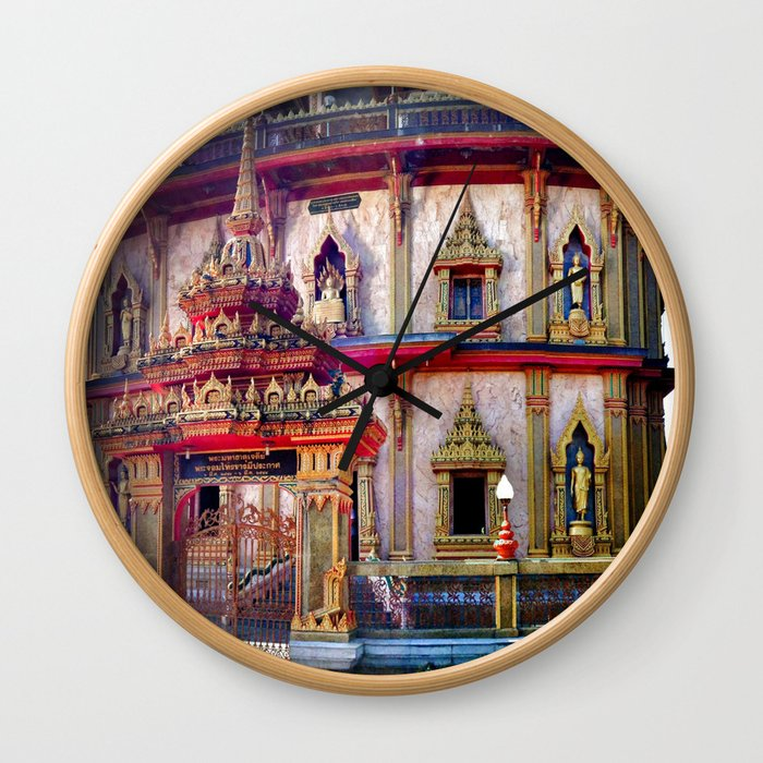 Wat Chalong Wall Clock