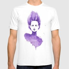 Purple Water Faery Mens Fitted Tee White MEDIUM