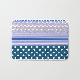 Abstract geometric pastel color chevron polka dots pattern Bath Mat